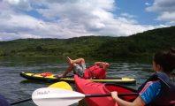 Kayaks on lake Pchelin – 15th of May